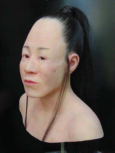 Реконструкция гуннской женщины, сделанная антропологами по черепу из Эльзаса.