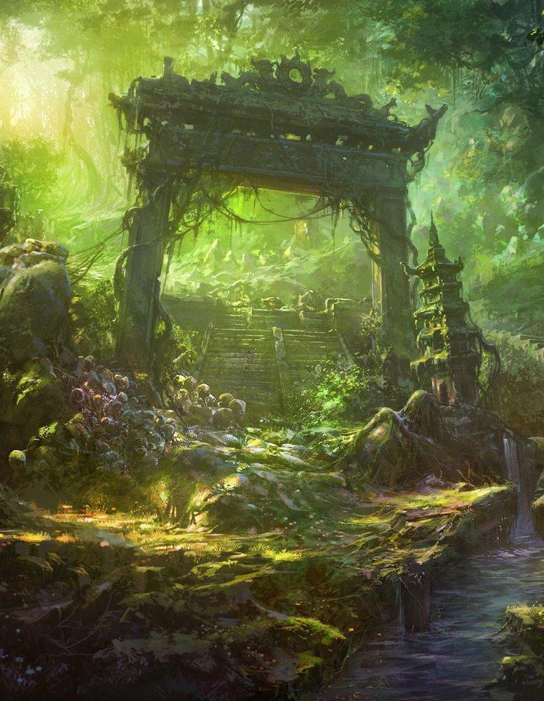 Застава без ворот, художник Шусин Ли