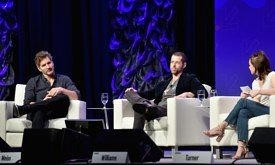 AUSTIN, TX - MARCH 12: (L-R) Writers David Benioff, D.B. Weiss, and actor Maisie Williams (Photo by Amy E. Price/Getty Images for SXSW)