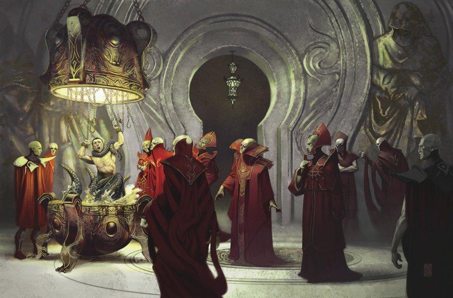 Красные маги, худ. Марсель Меркадо