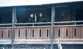 Game of Thrones Behind the Scenes Season 7, Episode TK L-R: Aidan Gillen as Petyr 'Littlefinger' Baelish and Sophie Turner as Sansa Stark