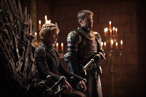 Серсея и Джейме в тронном зале