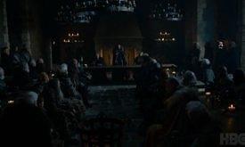 Северные лорды внимают своему очередному королю