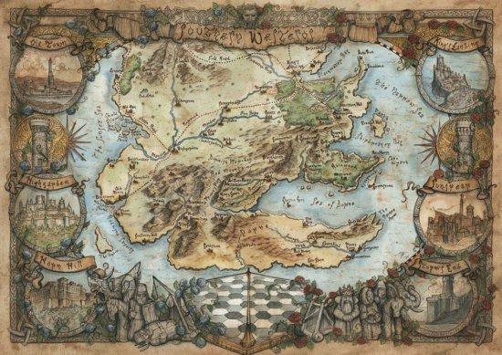Карта Юга Вестероса