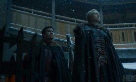 Между тем, Бриенна с Подриком возвращаются в Винтерфелл.