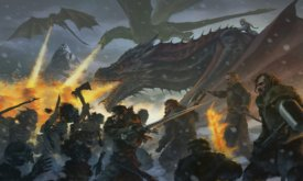 Битва на озере — иллюстрация по мотивам серии «За Стеной» в 7-м сезоне