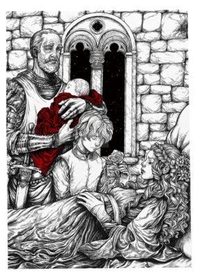 Дав жизнь дочери, королева умерла. Виллем Дарри взял детей и бежал в свой дом в Браавосе.