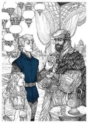 После смерти старого Дарри, слуги выгнали детей. Визерису пришлось продать корону матери, чтобы прокормиться.