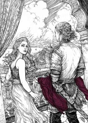 Наконец, последних Таргариенов приняли в доме Иллирио. Тот организовал свадьбу Дейнерис и кхала Дрого. Здесь Визерис несет сестре платье для смотрин.