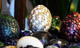 Яйцо дракона из гипса