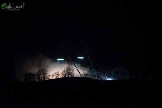 Ночные съемки в Маниглассе 26 января: вероятно, осада замка