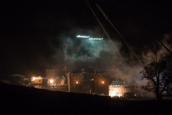 Ночные съемки в Маниглассе 26 января: видно дым