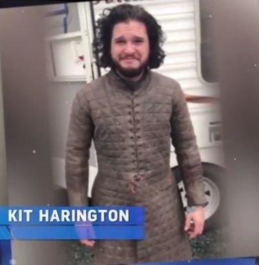 Кит Харингтон на съемках 8-го сезона