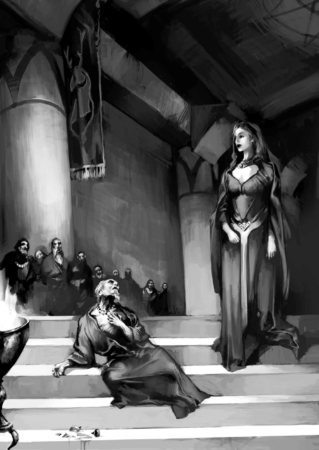 Мелисандра со старым мейстером