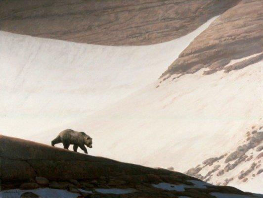 Поле весной (одна из иллюстраций для артбука о медведях)