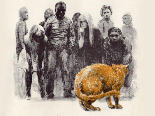Иллюстрация для детской книги «Бездомные кошки» (Nobody's Cat by Miska Miles)