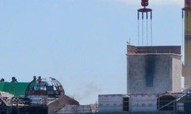 Огонь на куполе почти погас (22 июня 2018)