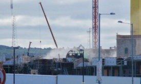Интенсивный дым возле сгоревшего купола (20 июня 2018)