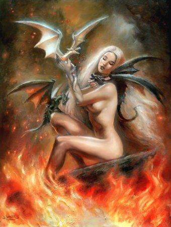 Дейнерис Таргариен с новорожденными драконами — волосы остались, как в сериале