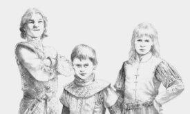 Эйгон, Дейрон и Эймонд — дети Алисенты Хайтауэр