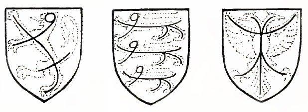 Примеры композиции фигуры на щите