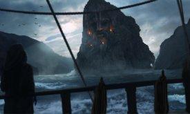 Каменная голова на Летних островах (худ. Martin H. Matthes)