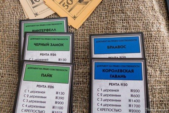 Игрок владеет монополией на земли зеленой и синей области