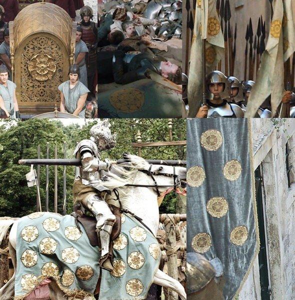 Использование герба Тиреллов в сериале