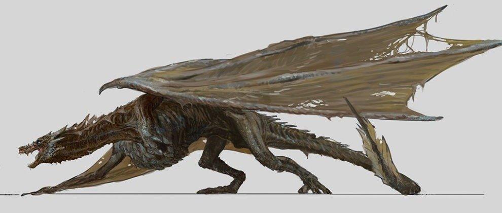 Концепт-арт взрослого дракона Дейнерис