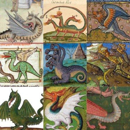 Драконы в средневековых бестиариях