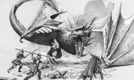 Бой раненого Солнечного Огня с воинами лорда Мутона близ Грачиного Приюта