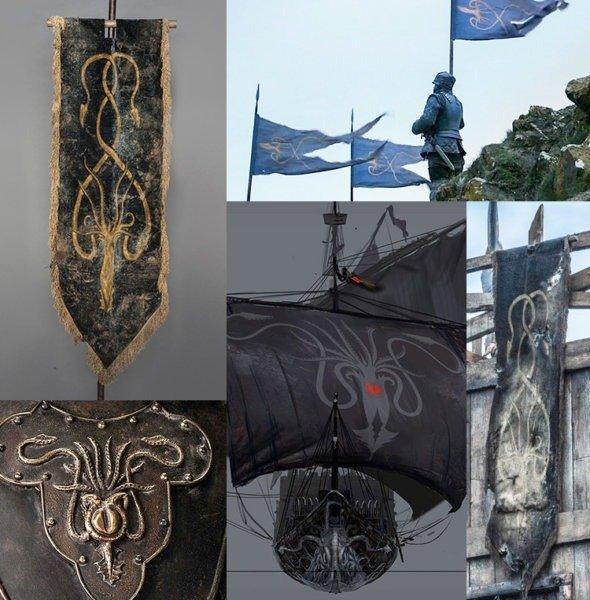Использование герба Грейджоев в сериале