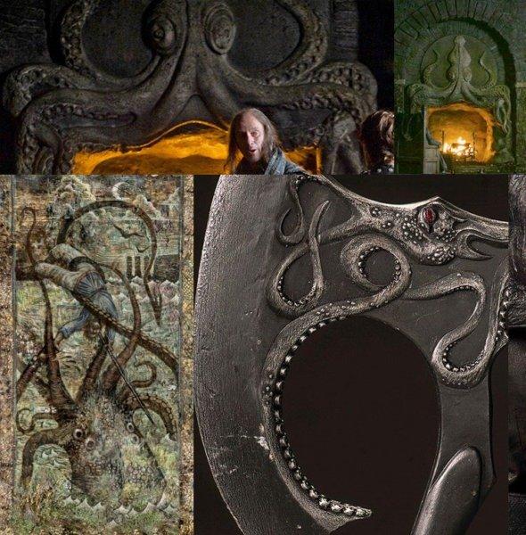 Эмблема Грейджоев в виде осьминога-кракена