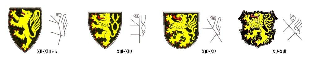 Геральдическое представление льва в Словенской геральдике в разные исторические периоды