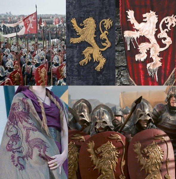 Использование герба Ланнистеров в сериале