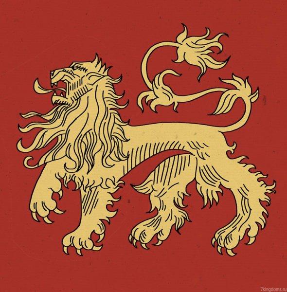 Шествующий лев (быстрая отрисовка моя, поэтому детали грубоваты)
