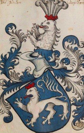 Коронованный лев с совершенно не впечатляющей гривой