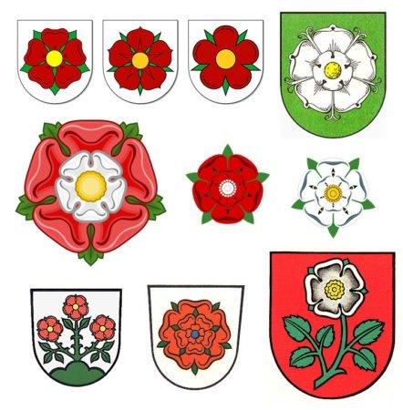 Примеры земных гербов с розами