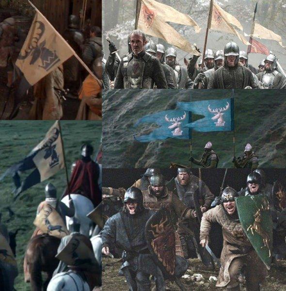 Использование герба Баратеонов (голова) в сериале