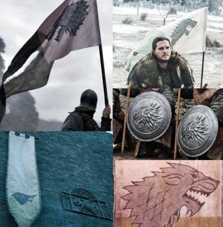 Использование герба Старков в сериале