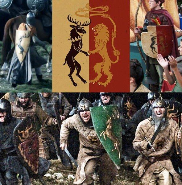 Вздыбленный олень в гербе Баратеонов и личном гербе Джоффри Баратеона
