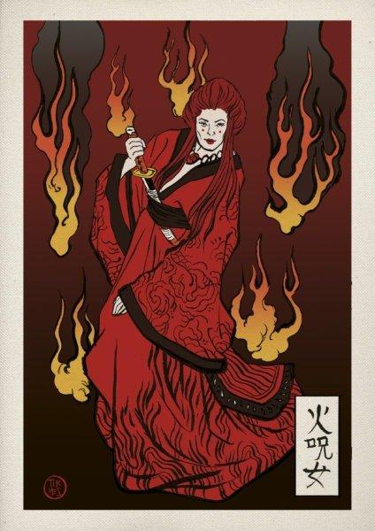 Мелисандра (кандзи: «ведьма огня»)