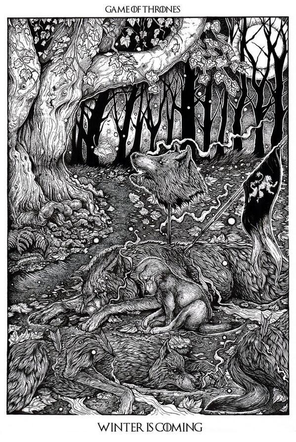Арья оплакивает семью: волчонок среди убитых волков