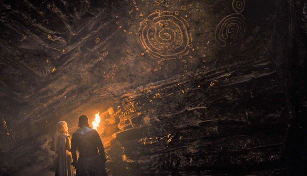 Наскальная живопись в обсидиановых пещерах