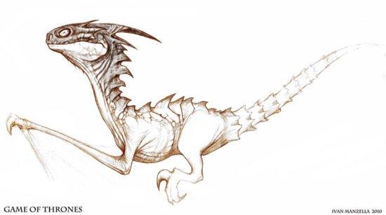 Первые концепты драконов.