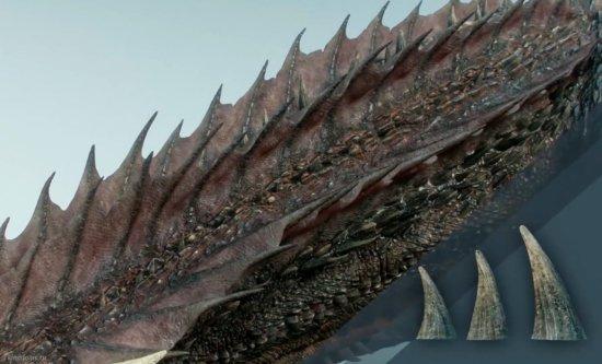 Шипы и гребни на шее драконов