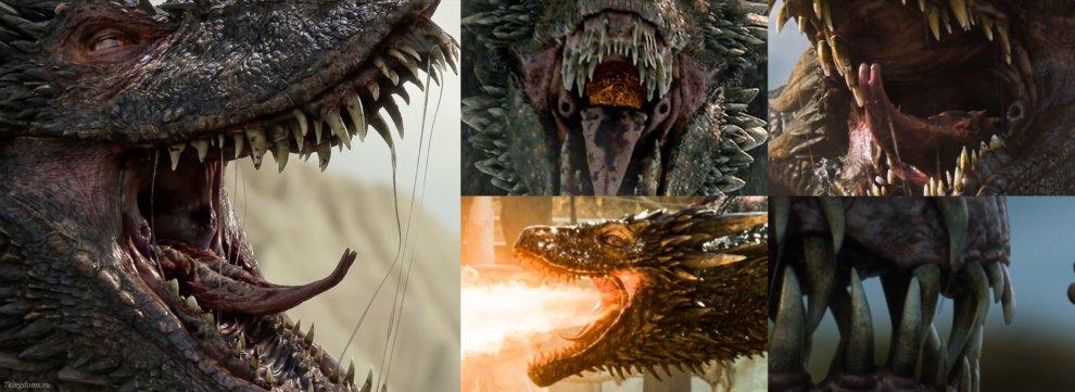 Строение пасти драконов