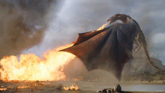 Дракон изрыгает пламя в полтора раза дальше, чем длина его тела