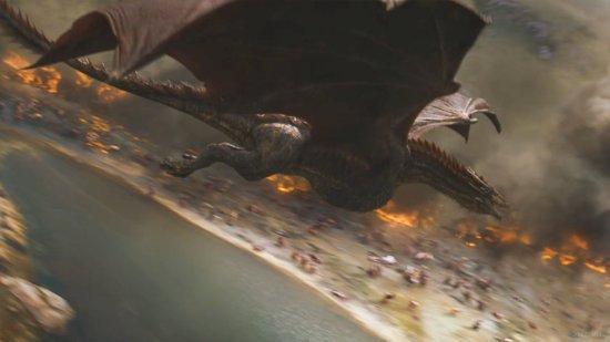 Полет взрослого дракона.