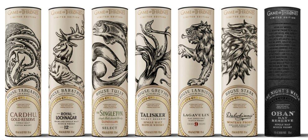 Красивые этикетки виски по мотивам «Игры престолов»